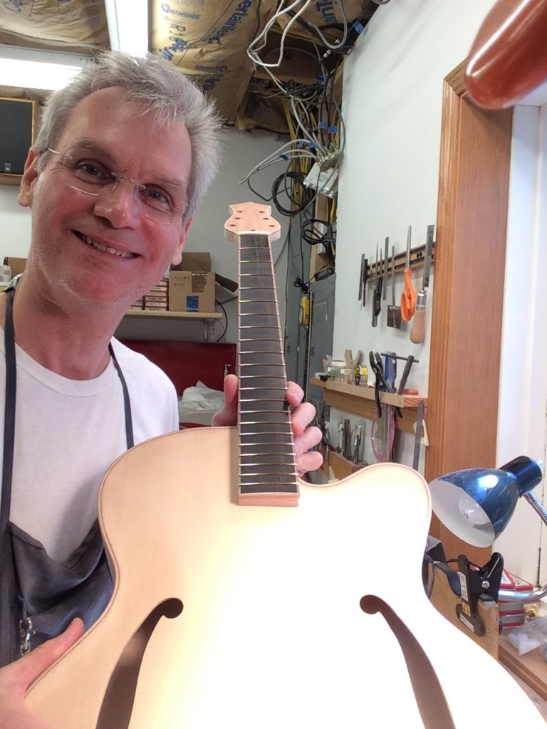 Luthier Dan with Guitar